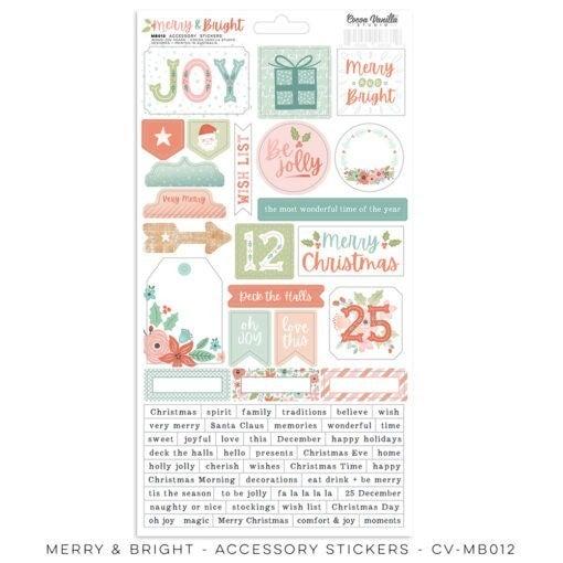 Cocoa Vanilla Studio Merry & Bright Accessory Stickers