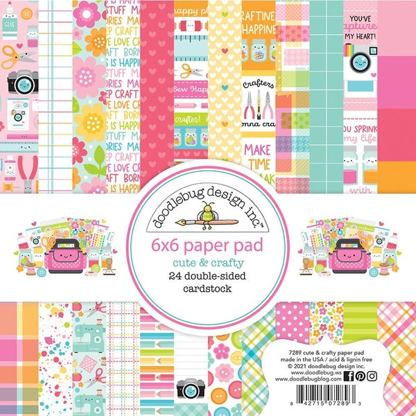 Doodlebug Design Cute and Crafty  6 x 6 Paper Pad