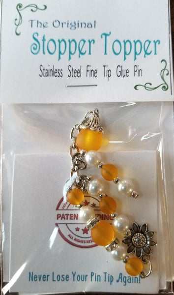 Original Stopper Topper SUNFLOWER for Art Glitter Glue
