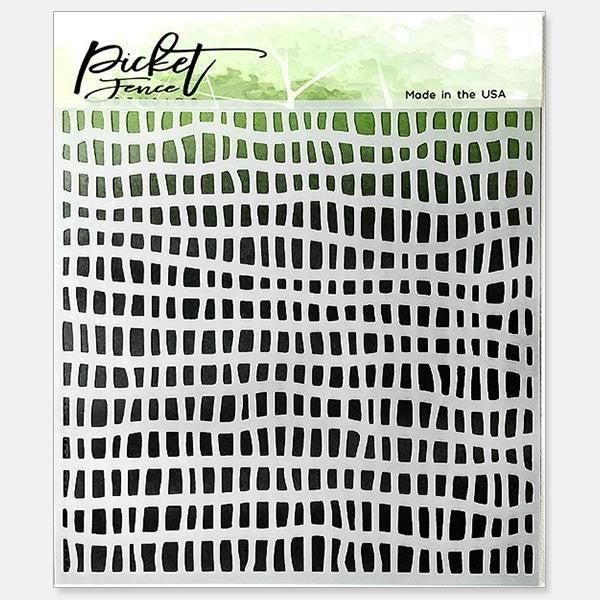 Picket Fence Studios Broken Fence Stencil