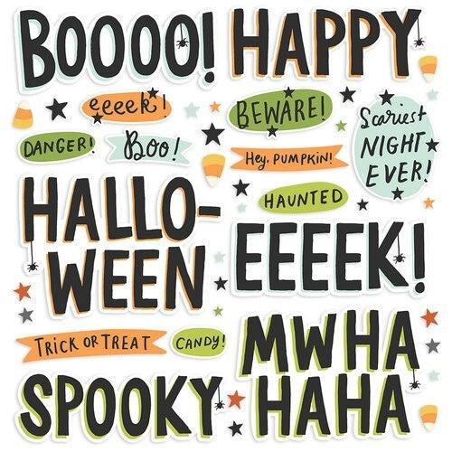 Simple Stories Spooky Nights Halloween Foam Stickers