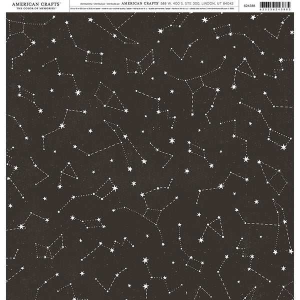 American Crafts 12 x 12 Single Sided Paper - Celestial 3 pc