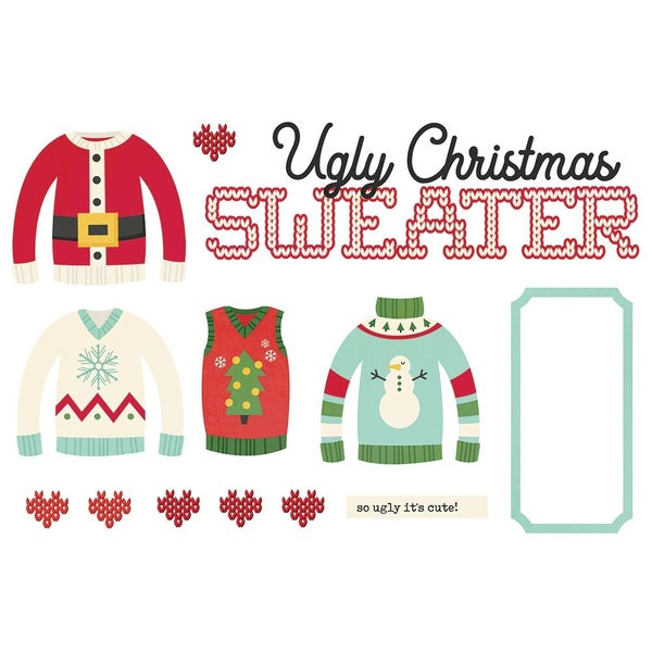 Simple Stories - Simple Pages Collection - Page Pieces - Ugly Christmas Sweater