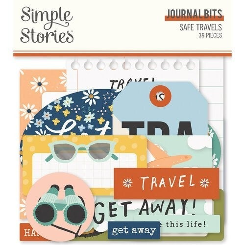 Simple Stories Safe Travels 6 pc Happy Scrappy Bag