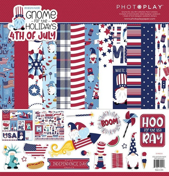PhotoPlay Gnomes for the Holidays 4th of July