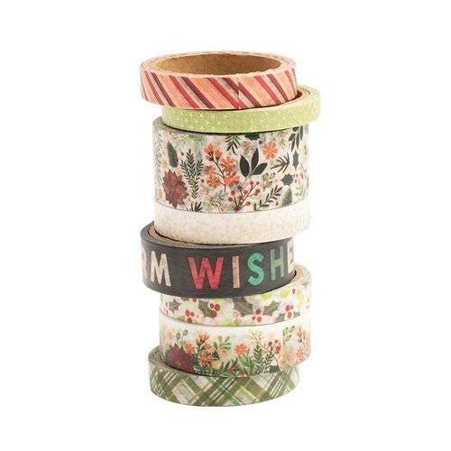 Vicki Boutin Warm Wishes  Christmas Washi Tape With Champagne Gold Foil Accents