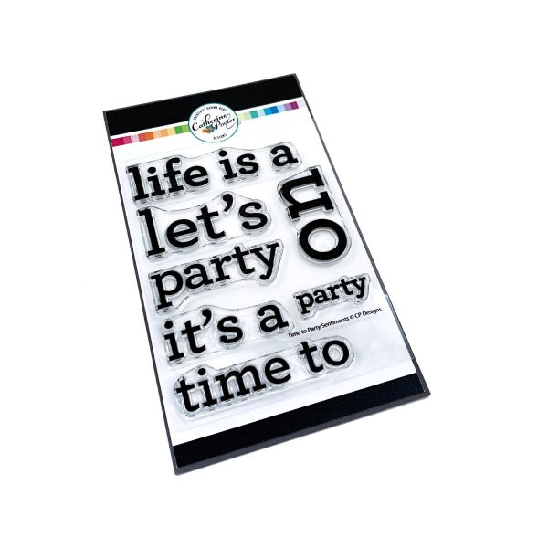 Catherine Pooler TIME TO PARTY SENTIMENTS Stamp Set