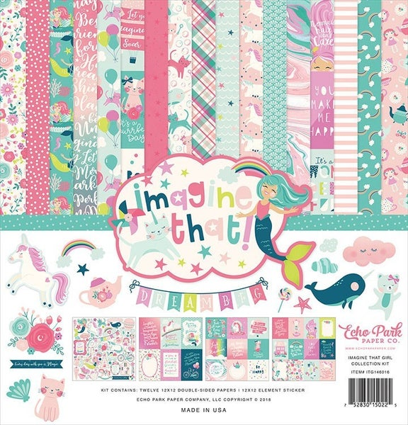 Echo Park Imagine That! Girl Collection Kit