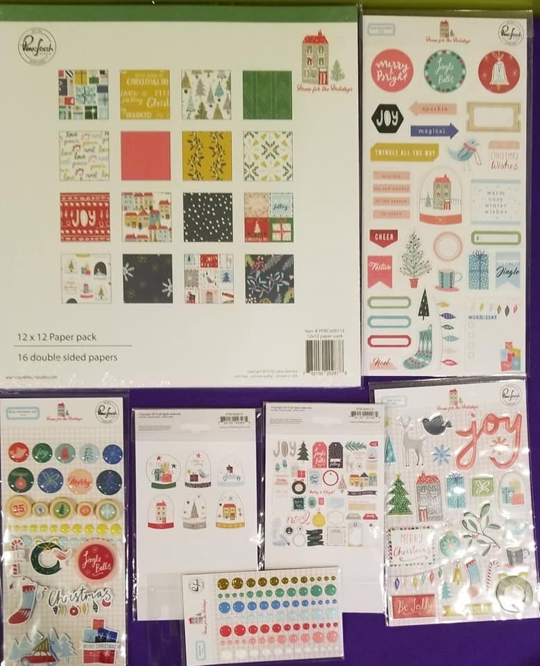PinkFresh Studio Home for the Holidays 7 pc Happy Scrappy Bag