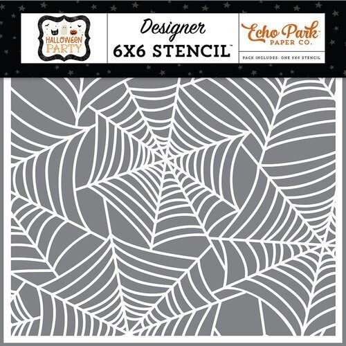 Echo Park - Halloween Party Collection - 6 x 6 Stencils - Spinning Spiderweb