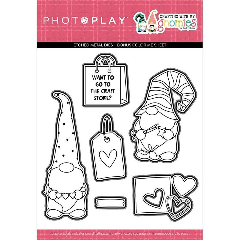 Photo Play Paper  Crafting With My Gnomies Collection - Etched Die Set