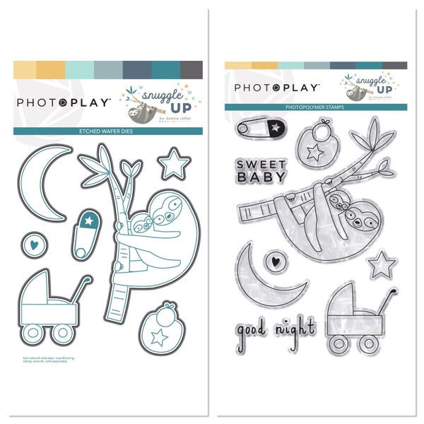 Photoplay Snuggle Up Boy Stamp and Die Set