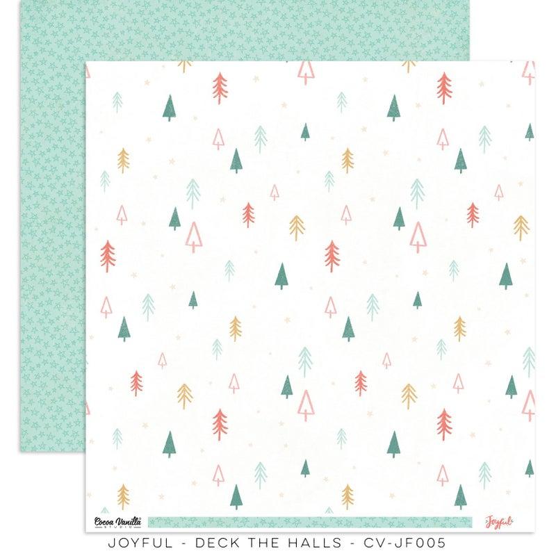 PRE ORDER Cocoa Vanilla Studio JOYFUL – DECK THE HALLS  12 x 12 Cardstock
