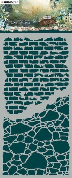 Studio Light JMA Stone Walls New Awakening Stencil