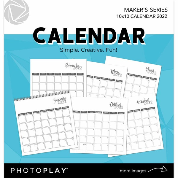 "PhotoPlay 2022 Spiral Bound Calendar 10""X10"""