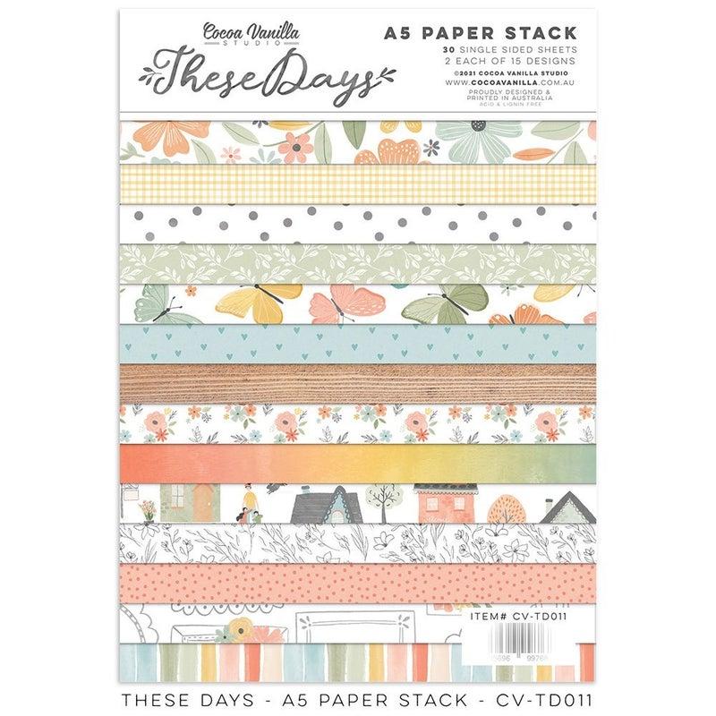 PRE ORDER Cocoa Vanilla Studio THESE DAYS  A5 Paper Stack (6 x 8)
