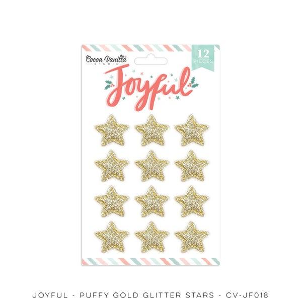 PRE ORDER Cocoa Vanilla Studio JOYFUL – GOLD GLITTER PUFFY STARS