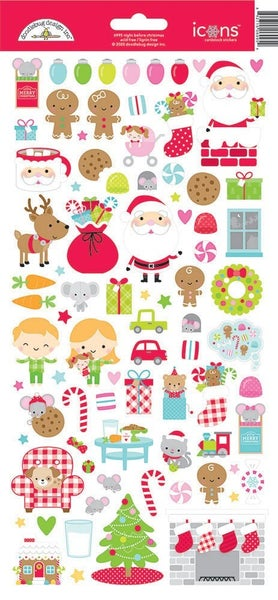 Doodlebug Design - Night Before Christmas  Icon Stickers