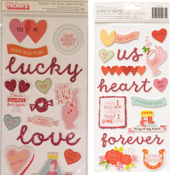 Lucky Charm Foam Phrase Thickers