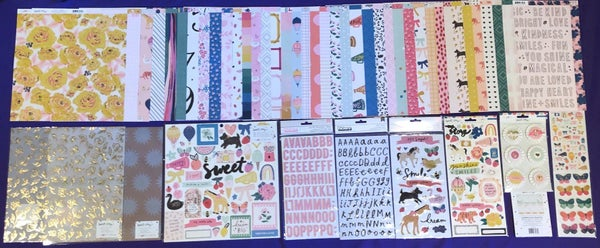 Crate Paper Maggie Holmes Sweet Story 51 pc Happy Scrappy Bag