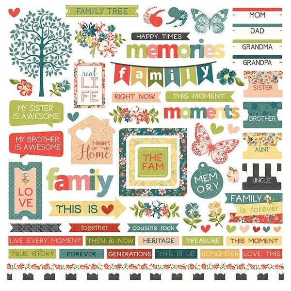 Photoplay Memory Lane 12 x 12 Sticker Sheet