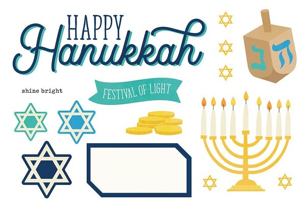 Simple Stories - Simple Pages Collection - Page Pieces - Happy Hanukkah