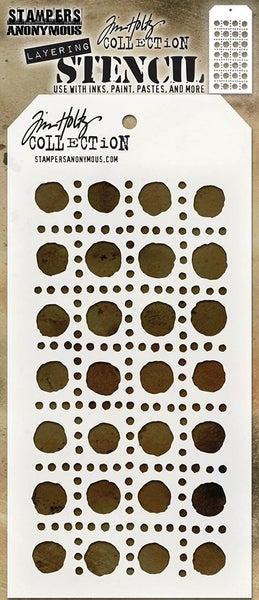Stampers Anonymous Tim Holtz Dotted Line Layering Stencil