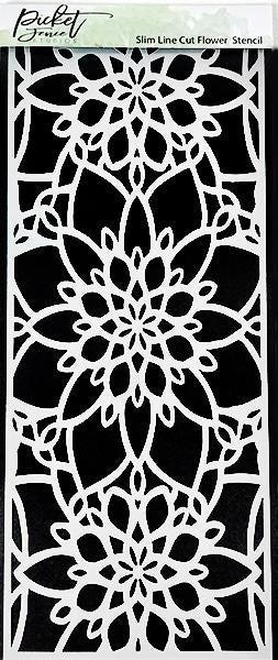 Picket Fence Studios Slim Line Cut Flower Stencil