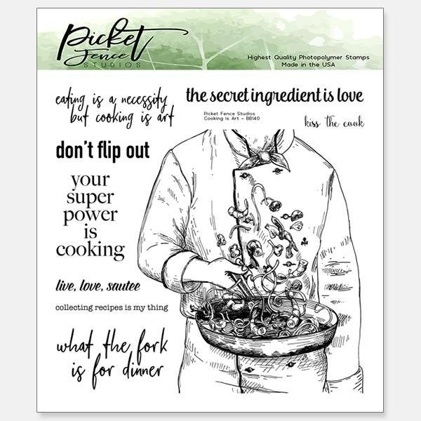 Picket Fence Studios Cooking Is Art Stamp