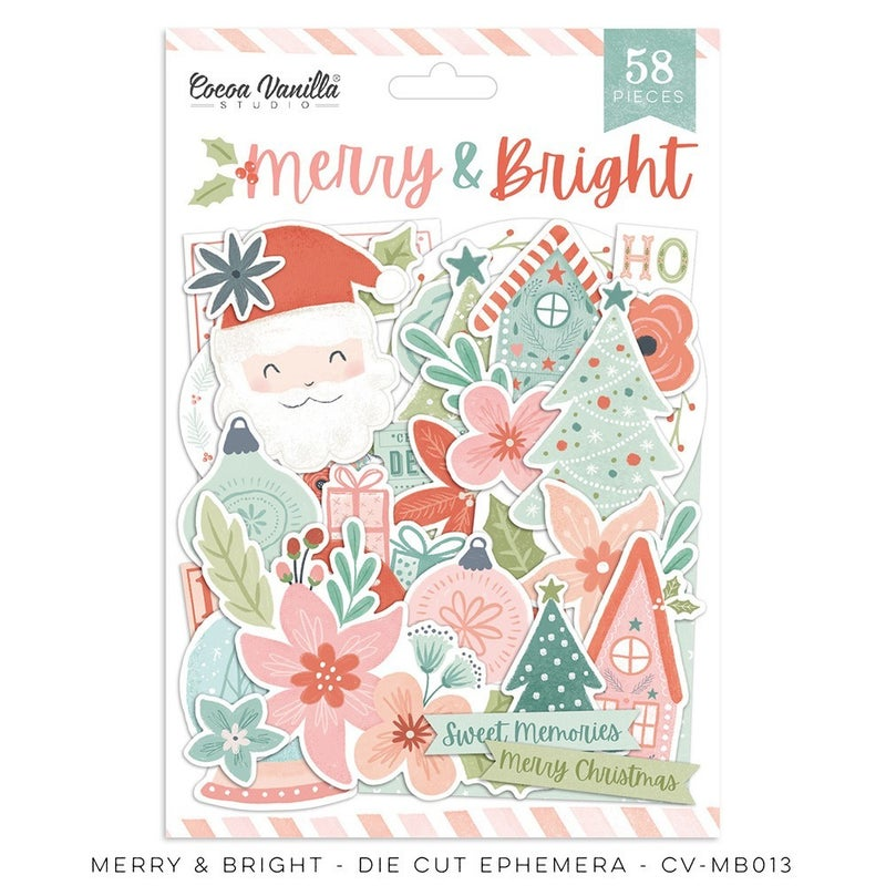 Cocoa Vanilla Studio MERRY & BRIGHT Die Cut Ephemera
