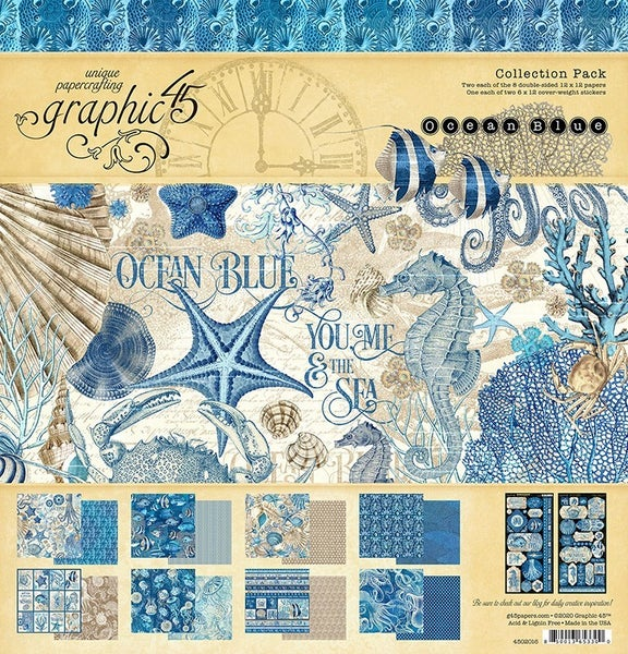 Graphic 45 Ocean Blue Collection Pack