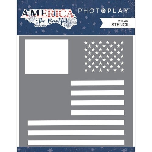 PhotoPlay America The Beautiful  Stencil - Flag