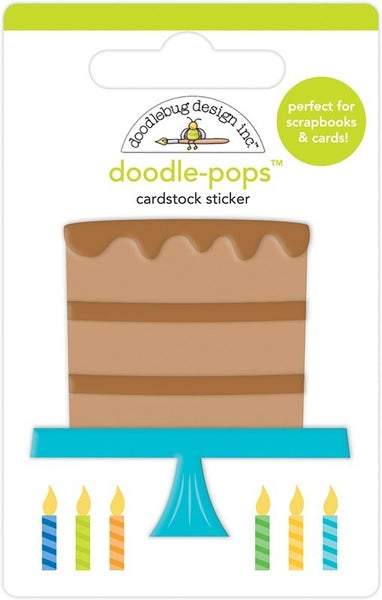 Doodlebug Design  Party Time Doodle-Pops Chocolate Cake