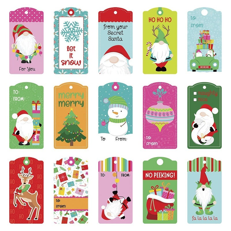 PhotoPlay Tulla and Norbert's Christmas Party 12 x 12 Double Sided Paper - Pre-Colored Die Cut Outs - Tags Set of 3