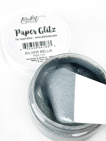 Picket Fence Studios Paper Glitz - Silver Bells
