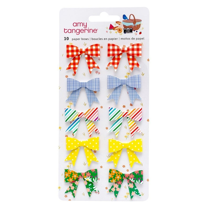 Amy Tangerine  Picnic in the Park Paper Bows Stickers
