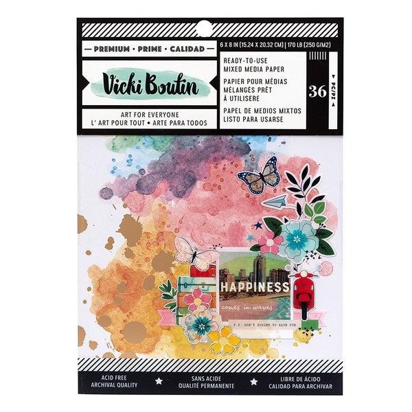 Vicki Boutin Let's Wander Mixed Media 6 x 8 Paper Pad