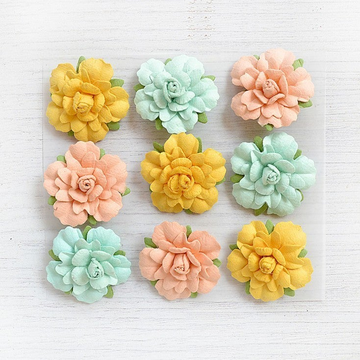 Little Birdie Crafts Vincy Pastel Palette 9 pc Flowers