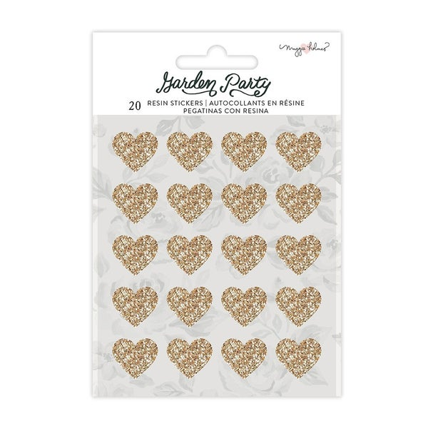 Maggie Holmes - Garden Party  Resin Stickers - Gold Glitter Accent