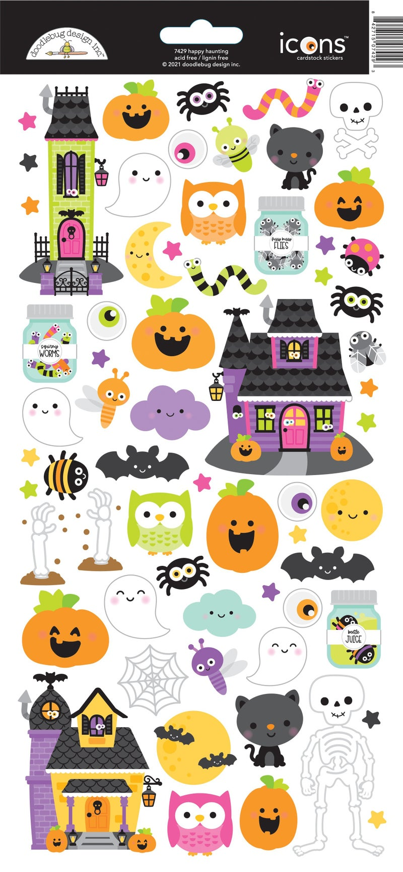 Doodlebug Design - Happy Haunting Collection - Cardstock Stickers - Icon