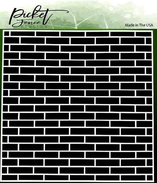 Picket Fence Studios English Brick Wall 6x6 Stencil