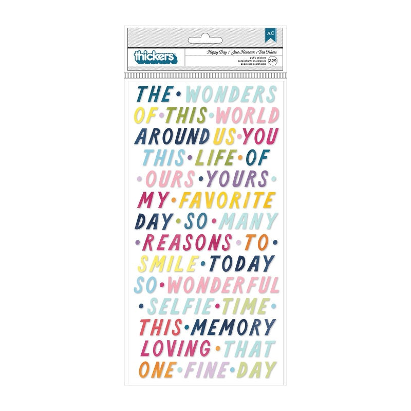 Paige Evans - Wonders  Thickers - Happy Day - Phrases