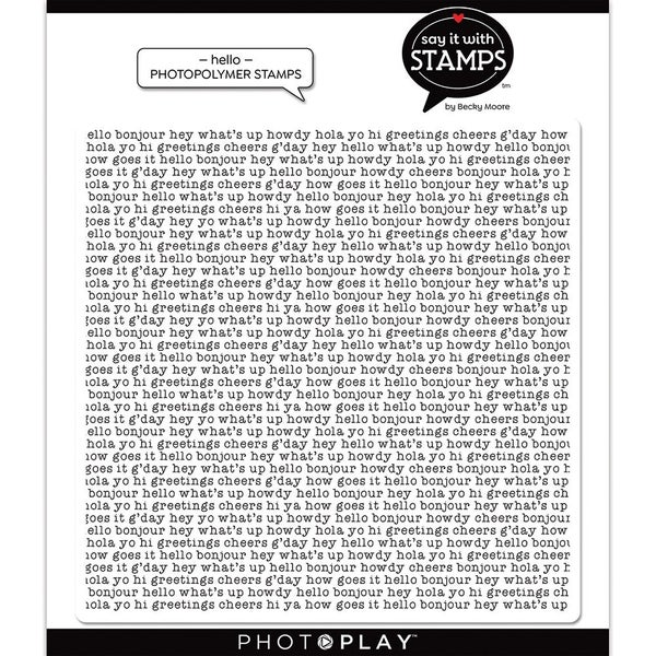 Photo Play Say It With Stamps Clear  Stamps - Hello Background