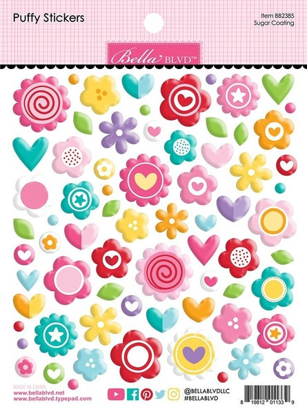 Bella Blvd  My Candy Girl Collection  Puffy Stickers  Sugar Coating