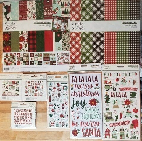 Simple Stories Jingle All The Way 8 pc Happy Scrappy Bag