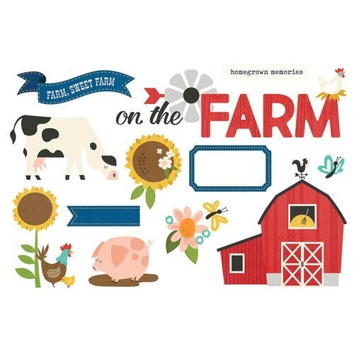 Simple Stories  Page Pieces  On The Farm HOMEGROWN