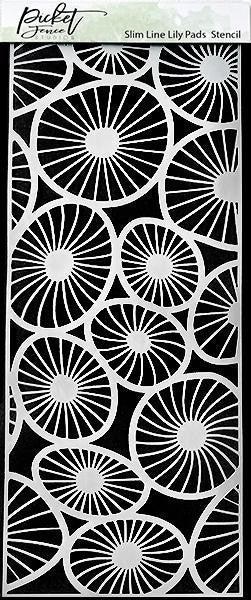 Picket Fence Studios 4 x 10 Slim Line Lily Pads Stencil