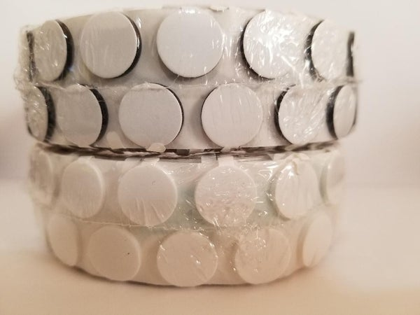 200 TWIN Adhesive Foam Dots with Tabs Black and White