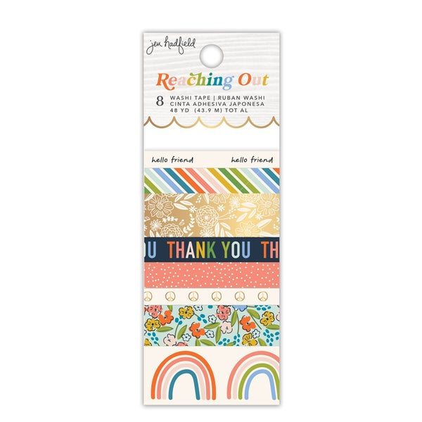 Jen Hadfield - Reaching Out  Washi Tape - Patterned - Gold Foil Accents