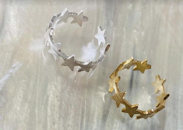 Brushed Star Ring